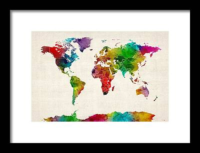 Countries Of The World Framed Prints