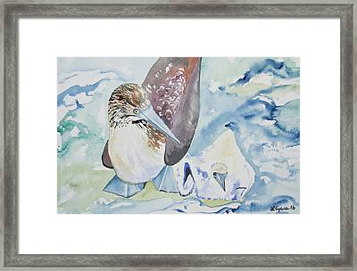 Watercolor - Mother And Child Framed Print by Cascade Colors