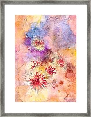 Watercolor Mums Framed Print