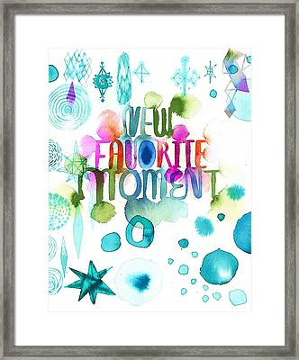 Watercolor New Favorite Item Lettering Framed Print by Gillham Studios