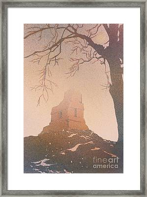Framed Print featuring the painting Watercolor Painting Of Mayan Temple- Tikal, Guatemala by Ryan Fox
