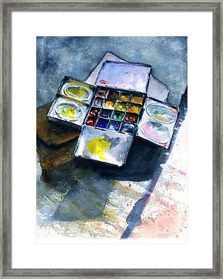 Watercolor Pallet Framed Print by John D Benson
