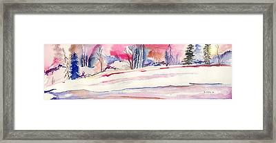 Framed Print featuring the painting Watercolor River by Darren Cannell