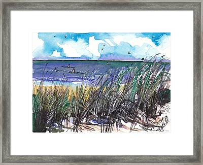 Watercolor Seashore Framed Print by Michele Hollister - for Nancy Asbell