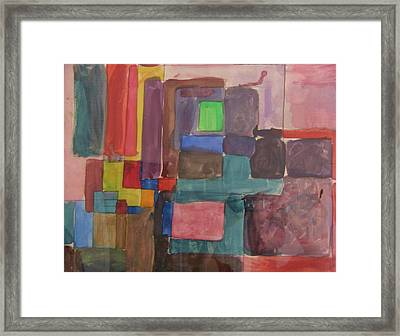 Watercolor Shapes Framed Print