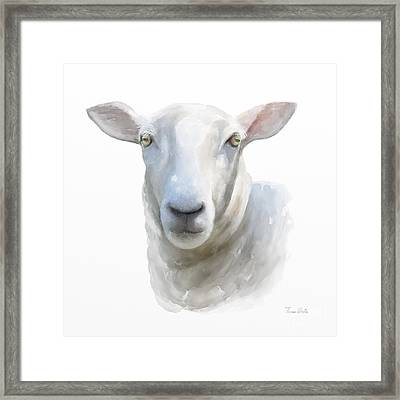 Watercolor Sheep Framed Print