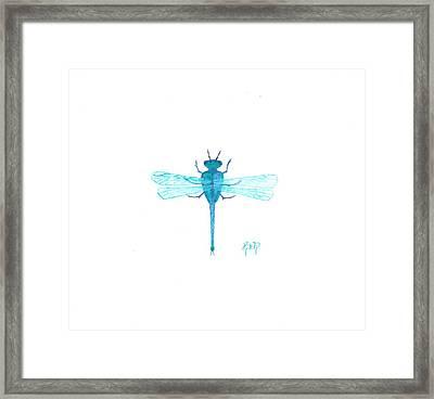 Watercolor Sketch Dragonfly Framed Print by Robert Meszaros