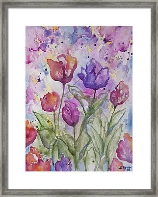 Watercolor - Spring Flowers Framed Print