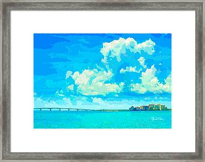 Watercolor Spring On Sarasota Bay Framed Print