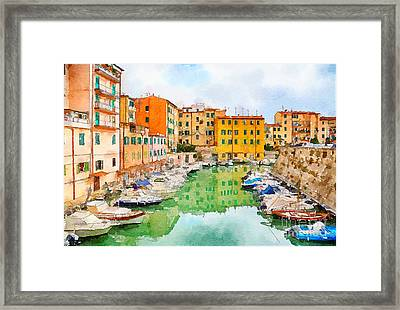 Framed Print featuring the digital art Watercolor Style by Ariadna De Raadt