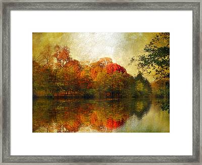 Watercolor Sunset Framed Print by Jessica Jenney