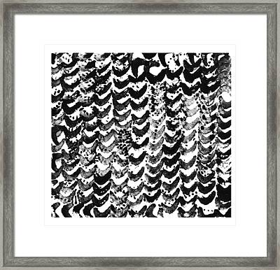 Watercolor Texture Of Irregular Framed Print by Gillham Studios