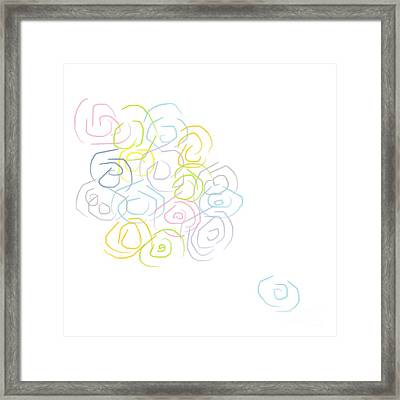 Watercolor Turns And Swirls Painting  Framed Print by Eloise Schneider