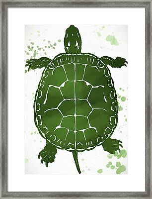 Watercolor Turtle Framed Print
