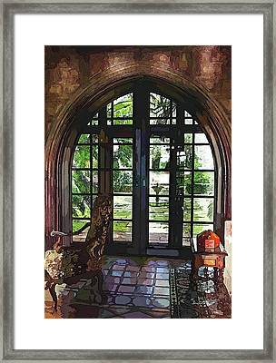 Watercolor View To The Past Framed Print