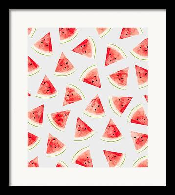 American Food Drawings Framed Prints