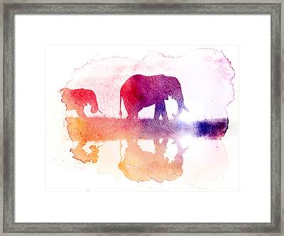 Watercolor Wildlife 2 Framed Print by The DigArtisT