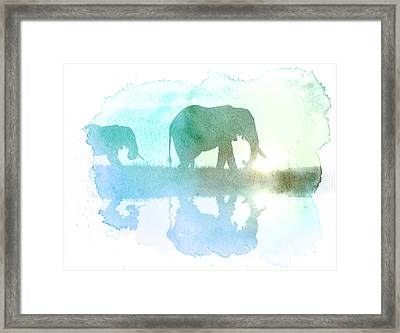Watercolor Wildlife Framed Print by The DigArtisT