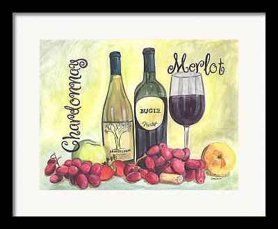 Chardonnay Drawings Framed Prints
