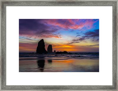 Watercolors Framed Print by Peter Irwindale