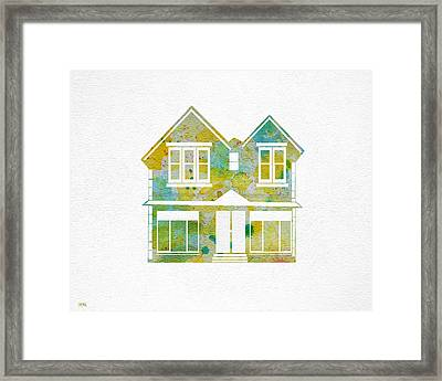 Watercolour House Framed Print by Oiyee At Oystudio