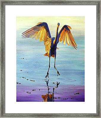 Framed Print featuring the painting Waterdance by AnnaJo Vahle