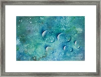 Waterdrops Framed Print