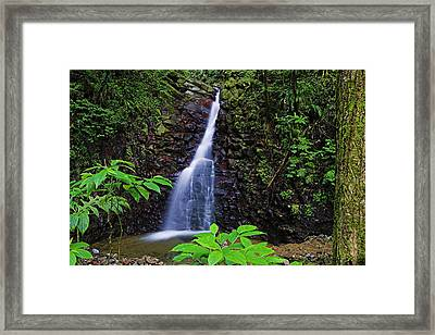 Waterfall-1-st Lucia Framed Print