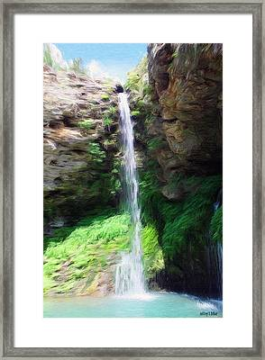 Waterfall 2 Framed Print by Jeffrey Kolker