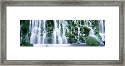 Waterfall Akita Japan Framed Print by Panoramic Images