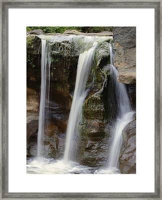 Waterfall Art - Balance Peace And Joy Framed Print