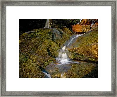 Waterfall At Dawn Framed Print