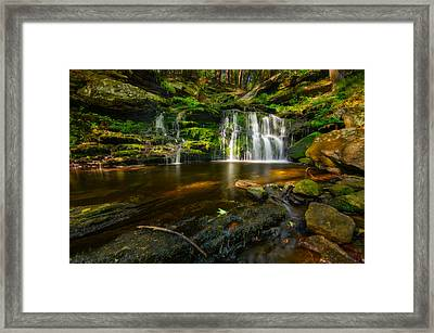 Waterfall At Day Pond State Park Framed Print