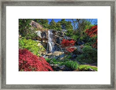 Waterfall At Maymont Framed Print by Rick Berk