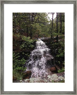 Waterfall At Mt. Magazine Framed Print by Steve Grisham