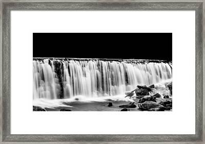 Waterfall At Night Framed Print