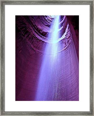 Waterfall At Ruby Falls Framed Print