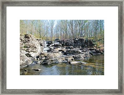 Framed Print featuring the photograph Waterfall At Wickecheoke Creek by Bill Cannon