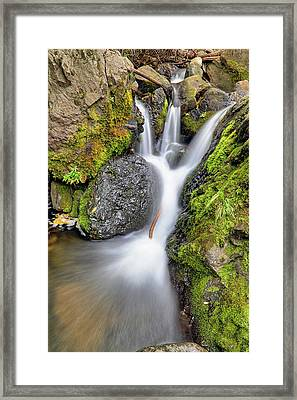 Framed Print featuring the photograph Waterfall Atop Wolf Creek Pass - Colorado - Nature by Jason Politte