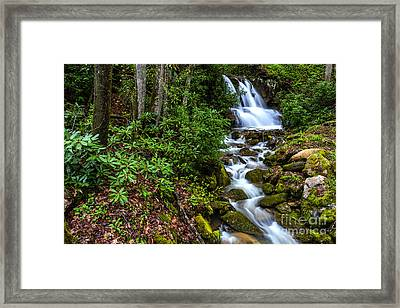 Waterfall Back Fork Of Elk River Framed Print by Thomas R Fletcher
