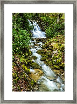 Waterfall Back Fork Of Elk Framed Print by Thomas R Fletcher