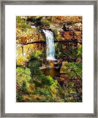 Waterfall Beauty Framed Print by Blair Stuart