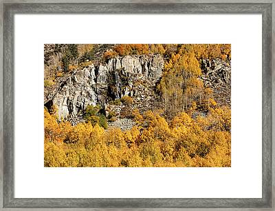 Framed Print featuring the photograph Waterfall, Bishop Creek Canyon by Stuart Gordon