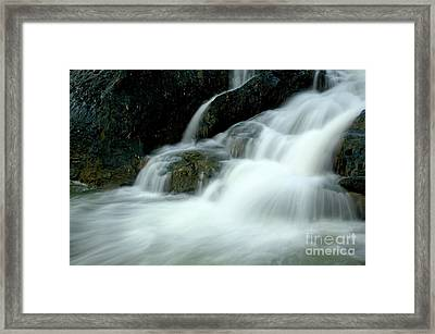 Waterfall Cascading Into Li Jiang River Framed Print by Sami Sarkis