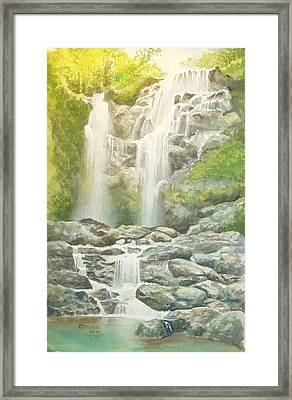 Waterfall Framed Print by Charles Hetenyi