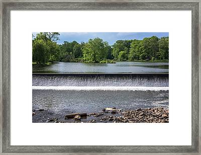 Waterfall Clinton New Jersey Framed Print by Terry DeLuco