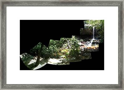 Framed Print featuring the photograph Waterfall Composition by John Gibbs