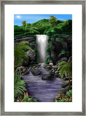 Waterfall Creek Framed Print