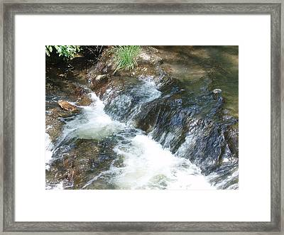 Framed Print featuring the photograph Waterfall Cresendo by Kicking Bear  Productions