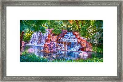 Waterfall Framed Print by David Millenheft